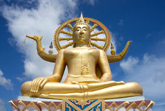 Golden Big Buddha statue Stock Images