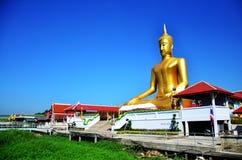 Golden Big Buddha statue image at Wat Bangchak Temple Stock Images