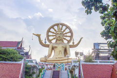 Golden big buddha statue Royalty Free Stock Images