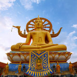 Golden Big Buddha statue Stock Image