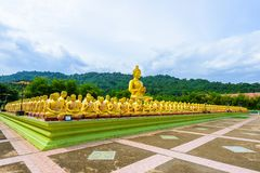 Makha Bucha Buddhist memorial park is built on the occasion of G Stock Photos