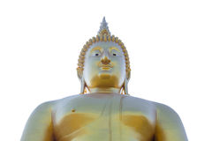 Golden Big Buddha Statue at Thai Temple Royalty Free Stock Photos