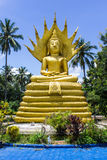 Golden Big Buddha in Thailand, art Stock Photo