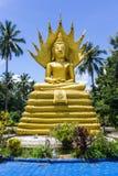 Golden Big Buddha in Thailand, art Stock Photo