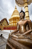 Golden Budha. Doi Suithep Royalty Free Stock Images