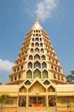 Golden big pagoda. In thai temple Stock Images