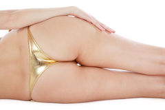 Golden bikini Royalty Free Stock Image