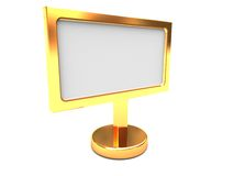 Golden billboard Royalty Free Stock Photos