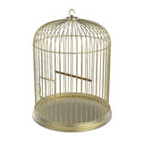 Golden bird cage Royalty Free Stock Images