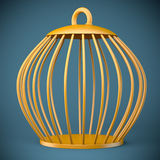 Golden bird cage Royalty Free Stock Photography