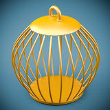 Golden bird cage Stock Photography