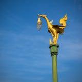 Golden bird lantern Stock Photo