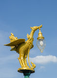 Golden bird lantern on the top of pole Royalty Free Stock Photos