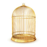 Golden birdcage Stock Photo