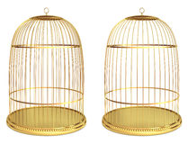 Golden birdcage Stock Photos