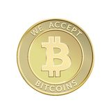 Golden Bitcoin Royalty Free Stock Photos