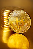 Golden Bitcoin Stock Images