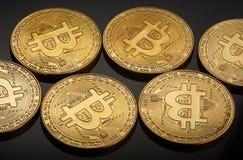 Golden bitcoin coin Royalty Free Stock Photography