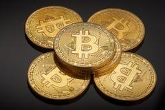 Golden bitcoin coin Royalty Free Stock Photo