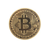 Golden Bitcoin coin royalty free stock photography