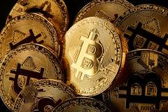 golden bitcoin cryptocurrency BTC Stock Image