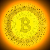 Golden Bitcoin cryptocurrency coin Stock Photography