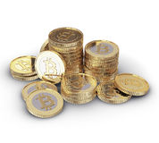 Golden Bitcoin Royalty Free Stock Image