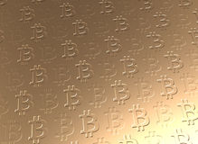 Golden Bitcoin currency background Royalty Free Stock Photo