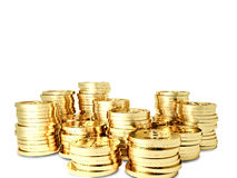 Golden bitcoin Royalty Free Stock Image