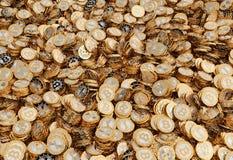 Golden Bitcoin - 3D rendering Stock Image