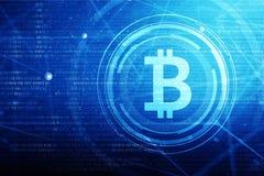 Golden bitcoin sign and logo stock photos