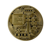 Golden Bitcoins (digital virtual money) isolated Stock Photography