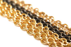 Golden and black chains Royalty Free Stock Image