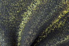 Golden black fabric texture Stock Image