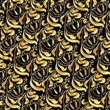 Golden black floral background Royalty Free Stock Image