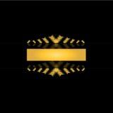 Golden black label design Royalty Free Stock Image