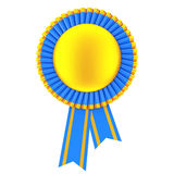 Golden Blank Award Ribbon Rosette. 3d Rendering Royalty Free Stock Images