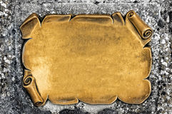 Golden blank plate Royalty Free Stock Photo