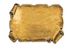 Golden blank plate Royalty Free Stock Images