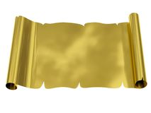 Golden blank sheet of paper with uneven edges Royalty Free Stock Images