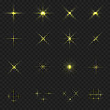 Golden blink icons Stock Image