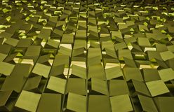 Golden blocks Stock Image
