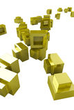 Golden Blocks Stock Photography