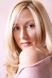 Golden blonde. Blonde female portrait Royalty Free Stock Photo