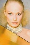 Golden blonde Stock Images