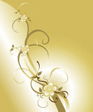 Golden Blossom Background Royalty Free Stock Photography