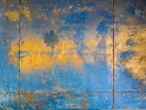 Background with golden and blue textures royalty free stock image