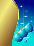 Golden Blue Decoration Stock Photo