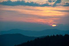 Golden Blue Ridge Sunset Stock Photo