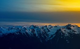 Hurricane Ridge Sunset stock images
